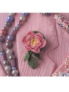 Free Crocheted Rose Pattern