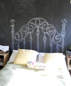 chalk board head board