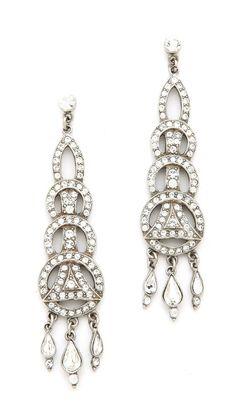 Ben-Amun Crystal Circular Drop Earrings #MadeInUSA