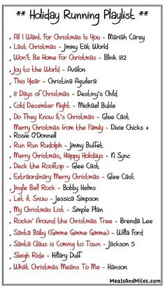 Getting into the holiday spirit with a little run-spiration! Holiday Running Playlist