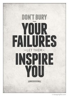 Inspirational quotes poster Don't bury