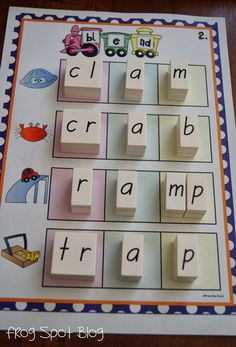 Making / Building Words with Blends ccvc and cvcc $