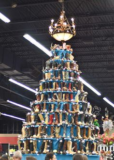Cowboy boot Christmas tree
