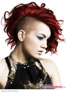 short hair, hair colors, punk hairstyl, red hair, hairstyle ideas