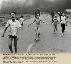 this is a picture that won a pulitzer prize. It shows the devastating effect of napalm, and how it ripped people apart. Napalm is a flammable explosive that can be made with simple household items.