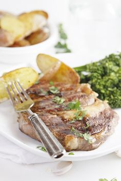 Grilled Ribeye with Balsamic Butter Sauce