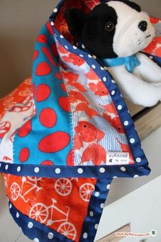 Sew an easy strip quilt for baby with this free video tutorial.