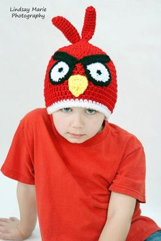 Angry Bird Crochet hat-Pattern from My Sweet Potato 3