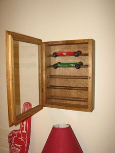 pinewood derby display case | Derby Talk - View topic - How do you display your cars?