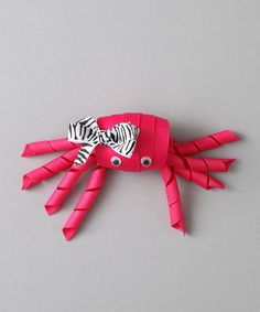 Look at this Bubbly Bows Hot Pink Crab Clip on #zulily today!