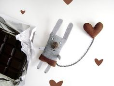 Bunny Brooch  I have a Chocolate Heart by krize on Etsy, $27.00