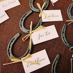 country wedding horseshoe