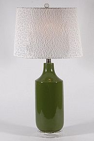 Solid Green Ceramic Lamp by Stylecraft