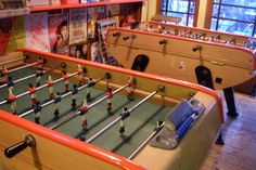Play a few rounds of foosball at London's Café Kick.