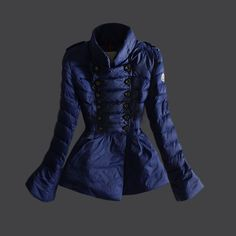 Buy Blue Moncler Fashion Down Jacket for Women  $277.99