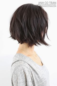 LA: THE MOST PERFECT BOBS ARE AT RAMIREZ|TRAN SALON. Cut/Style: Anh Co Tran. #bob #hair #besthair #brunette #shorthair #model #losangeles #cute #adorable #hairsalon