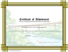 Cub Scout Printable Certificate Templates