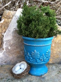 Tantalizing Turquoise  Upcycled  Fleur De Lis Urn by TimelessNchic, $24.95 #fleur #french #upcycled #garden #boho #turquoise #distressed #chic #cottage