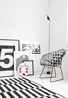 Black and white home by interior stylist Susanna Vento
