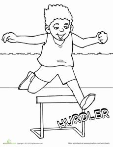 Track and Field Coloring Page