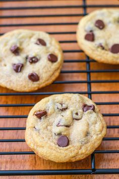 Soft, chewy, & thick Chocolate Chip Cookies