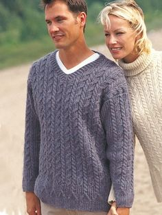 Casual Cables (for him) | Yarn | Free Knitting Patterns | Crochet Patterns | Yarnspirations
