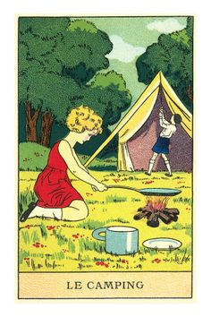 vintage camping post