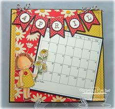 cute 6x6 calendar page