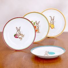 Bunny Plates... These would be so cute to use for kids at Easter time!