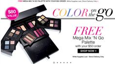 FREE Avon Mega Palette ($80 value) with your $50 online order. Avon Free Shipping on $35 online orders. Hurry...while supplies last. http://eseagren.avonrepresentative.com #avon #makeup #beauty