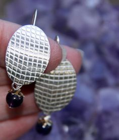 """For Mother's Day!  Sterling Silver Earrings by Crow for SistersArtisans, $46.00     * PLEASE Click on the """"etsy.com"""" words below to follow the link to this item."""