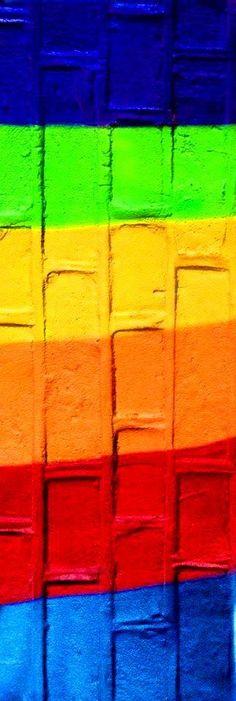 rainbow colour bricks