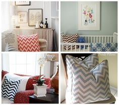 Two Girls Being Crafty: DIY Painted Chevron Pillow