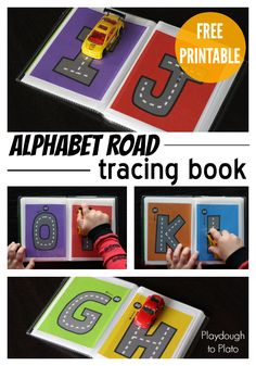 FREE Alphabet Road Letter Tracing Book. Such a fun ABC game for kids! This would make a super motivating literacy center or busy bag. {Playdough to Plato}