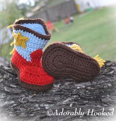 Baby Cowboy Boots, Crochet Baby Booties, Fringe Boots, Infant Sizes