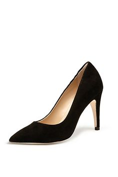 DVF | Anette Pump In Black Suede http://on.dvf.com/19JNVnp #ThePunctuation