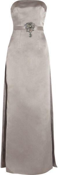 CHRISTOPHER KANE Green Carpet Challenge Swarovski Crystal-embellished Silk-satin Gown - Lyst