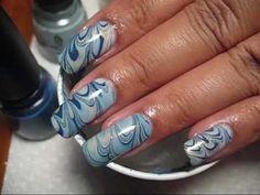 marbled finger nails..