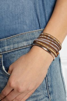 Obsessed with Chan Luu leather wrap bracelets lately. This is a great one for summer.