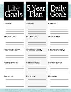 5 year personal plan template .