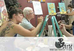 Arte Wine and Painting Bar - painting at a bar! | Wauwatosa, Wisconsin