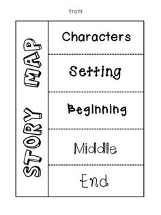 Story Map Foldables- 4 different versions. Great for literacy centers and reader's notebooks!