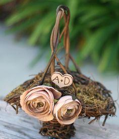 Flower Girl Basket Rustic Wedding