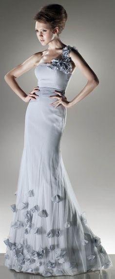 Beautiful one shoulder trumpet dress