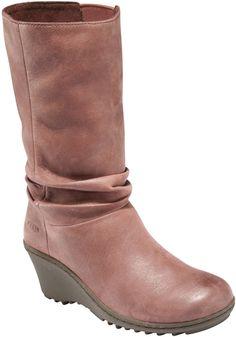 KEEN Footwear - Women's Akita Mid Boot $160 #goexplore  Love the scrunch effect & color! ~GLS