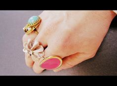 These DIY Accent Rings are really easy to make from old clip-on earrings.