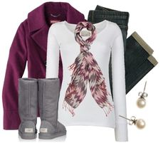 """""""Cozy in Chevron"""" by qtpiekelso on Polyvore"""