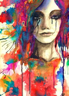 Tears of an unknown girl #watercolor