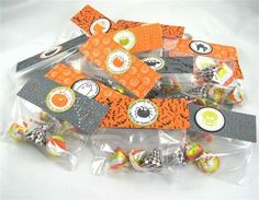 treat bag toppers are made from the Ghostly Greetings Designer Series Paper