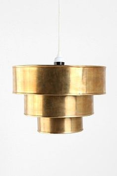 Brass Tiered Pendant Shade / Urban Outfitters